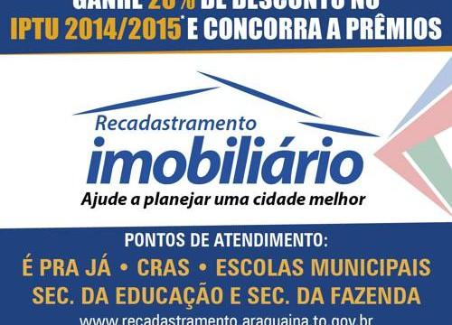 Prefeitura prorroga Recadastramento Imobiliário até 31 de dezembro