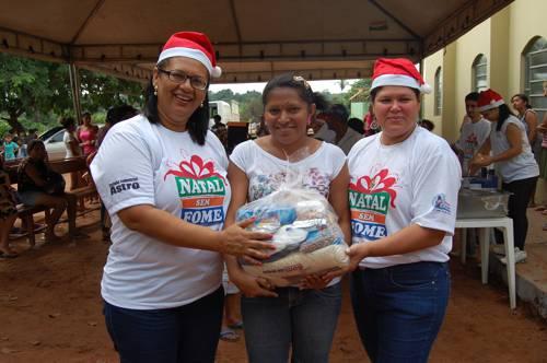FUNAMC promove Natal sem Fome no setor Xixebal