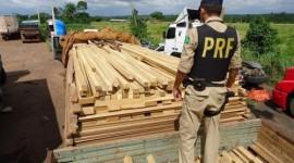 Veículo é retido em Araguaína com excesso de peso e madeira sem documentação ambiental