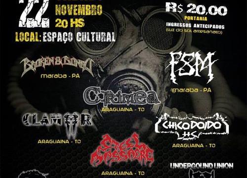Evento de rock reúne bandas em Araguaína