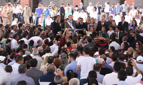 Governador Marcelo Miranda toma posse e destaca saúde e segurança como prioridades do governo