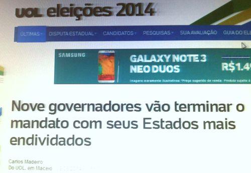 Governador do Tocantins é destaque no Brasil por ser um dos nove gestores no país que vai entregar o Estado completamente endividado ao seu sucessor