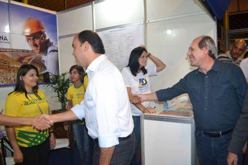 Dimas e Sandoval Cardoso participam da abertura oficial da Feira do Empreendedor 2014