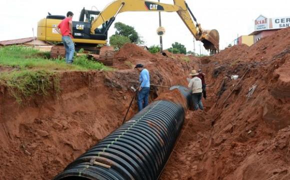 Araguaína Sul recebedrenagem com tubos de tecnologia moderna