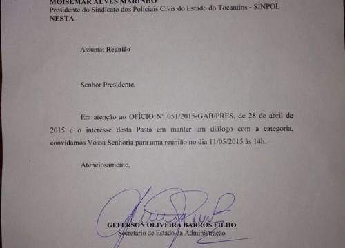 Reunião entre Sinpol e governo do Estado está marcada para o dia 11