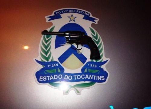 Arma de fogo é apreendida pela PM com dupla de suspeitos em Araguaína