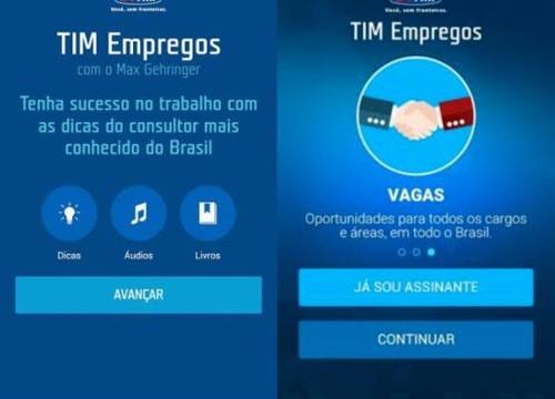 Novo aplicativo da TIM traz vagas de emprego e dicas de carreira