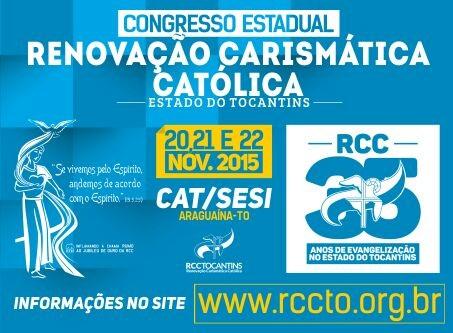 Araguaína recebe o Congresso Estadual da Renovação Carismática neste final de semana