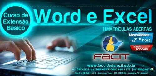 FACIT oferece cursos de Word e Excel para a comunidade
