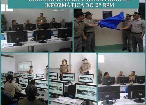 Comandante Geral da PM inaugura laboratório de informática do 2º BPM