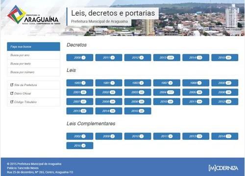 Prefeitura cria site com leis e decretos municipais e disponibiliza à população