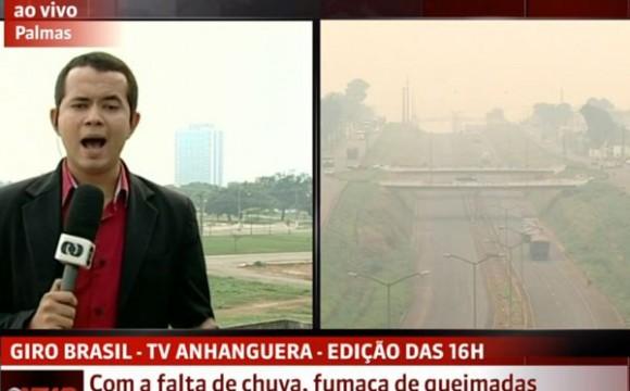 Defesa Civil do Tocantins alerta para fumaça provocada por queimadas em estados vizinhos