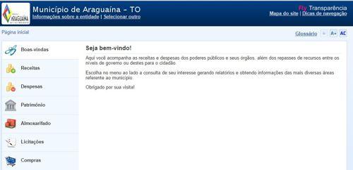 Araguaína fica em quarto lugar no ranking da transparência no Tocantins