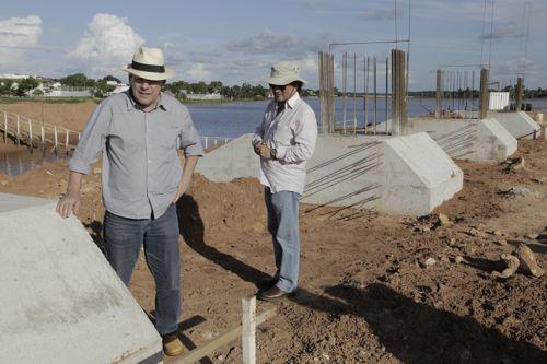Avança obra da Via Lago com etapa de fundação da ponte