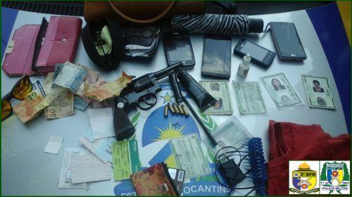Uma arma de fogo é apreendida e três motocicletas recuperadas pela PM em Araguaína