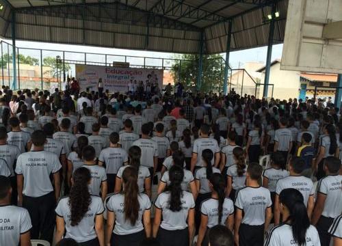 Colégio da Polícia Militar em Araguaína inicia semestre letivo com mais de 800 alunos matriculados