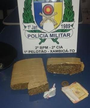 PM prende suspeitos de furto e tráfico de drogas em Xambioá