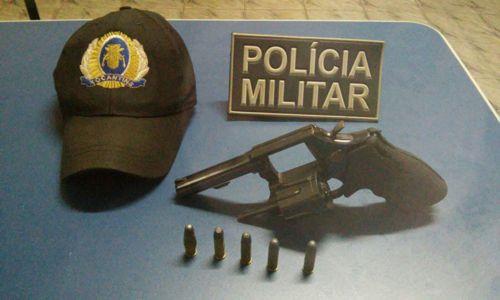 Em Araguatins, dois são detidos pela PM com munições e arma usada por vigilantes de banco atacado por bandidos