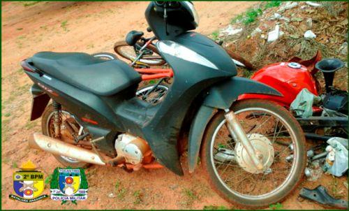 PM recupera motocicleta roubada e apreende 53 pedras de crack em Araguaína