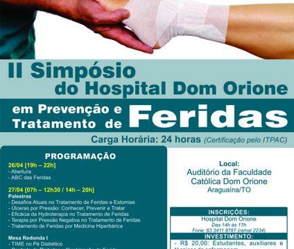 Inscrições abertas para o II Simpósio de Feridas do Hospital Dom Orione