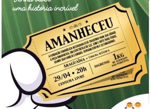 Comédia baiana Amanheceu está em cartaz amanhã em Araguaína