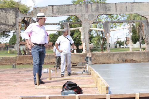 Quadra cultural está em construção no Parque Cimba