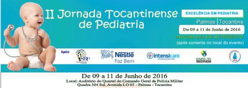 II Jornada Tocantinense de Pediatria abre inscrições