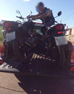 PM recupera motos roubadas em Araguaína e prende foragido em Cristalândia