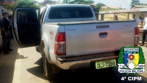 Em ação conjunta, PM do Tocantins e Maranhão recuperam veículo roubado no Pará