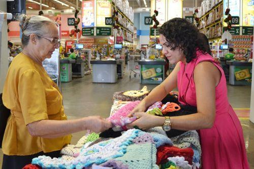 Parceria com supermercado de Araguaína garante exposição do Bazar Três Pontos