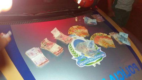 Suspeito de roubo é preso e dinheiro recuperado pela PM em Araguaína