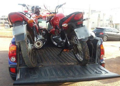 Polícia Militar em Araguaína recupera seis motos roubadas