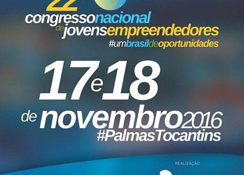 Palmas vai sediar o 22º Congresso Nacional de Jovens Empreendedores