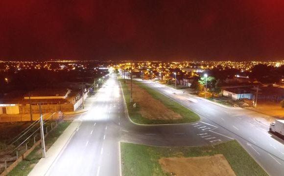 Duplicação da Avenida Filadélfia já recebe nova iluminação em LED