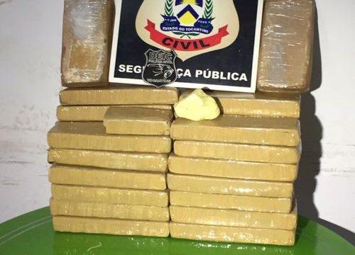Jovem é flagrada com mais de 21kg de droga na rodoviária de Araguaína