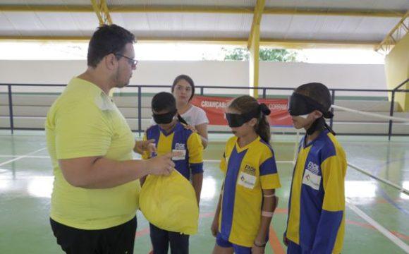 Alunos participam de torneio experimental para deficientes visuais em Araguaína