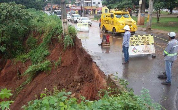 Após forte chuva, Prefeitura faz trabalho em conjunto para minimizar transtornos em Araguaína