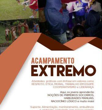 Acampamento Extremo oferecerá atividades e valores para jovens de 13 a 16 anos
