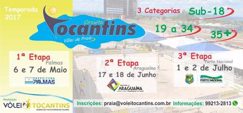 Segunda etapa do Circuito Tocantins Vôlei de Praia será em Araguaína