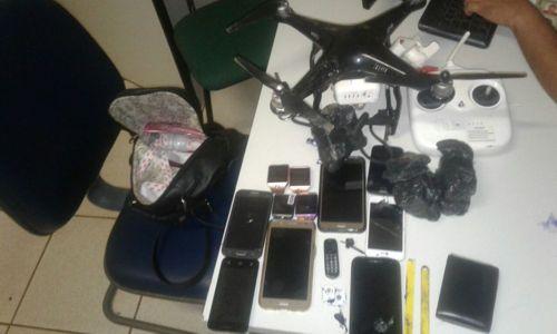 Polícia Civil prende suspeitos de usar drone para passar drogas para dentro de presídio da capital