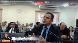 Vereador Terciliano Gomes sai na frente e transmite ao vivo as sessões da Câmara