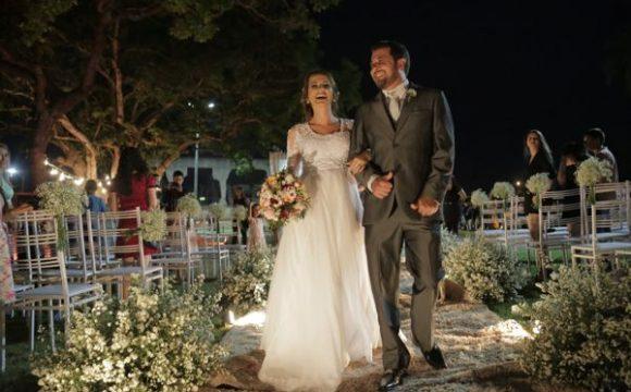 Primeiro casamento no Parque Cimba encanta noivos e visitantes
