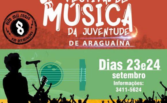 Prefeitura divulga selecionados para 1º Festival de Música da Juventude de Araguaína