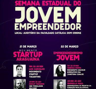 Araguaína sediará Semana Estadual do Jovem Empreendedor
