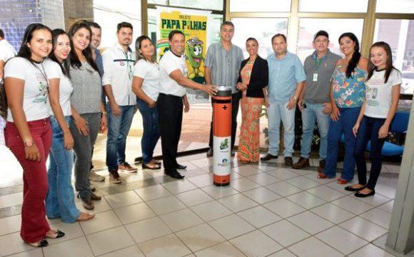 Projeto Papa-Pilhas instala mais dois ecopontos de coleta de baterias domésticas em Araguaína