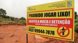 Combate ao descarte irregular de lixo é intensificado em Araguaína