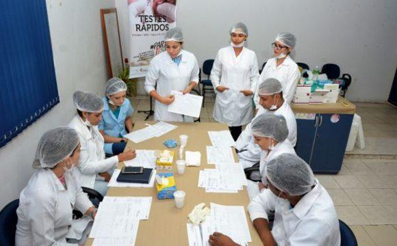 Profissionais da Saúde passam por capacitação para testesrápidos de DSTs