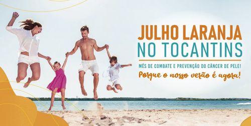 Julho Laranja é o mês de conscientização do câncer de pele no Tocantins