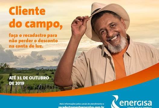 Produtores rurais devem procurar a Energisa para garantir desconto na conta de energia